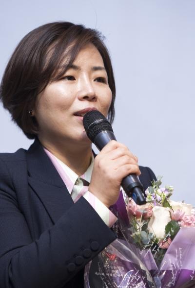 권미경 연세의료원 노조위원장 ⓒ이정실 여성신문 사진기자