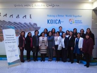 국제여성가족교류재단은 한국국제협력단(KOICA)과 함께 지난달 30일 경기 성남시 한국국제협력단 국제회의실에서 '성평등을 위한 중미의 도전과 성과'를 주제로 오픈세미나를 열었다. ⓒ국제여성가족교류재단 제공