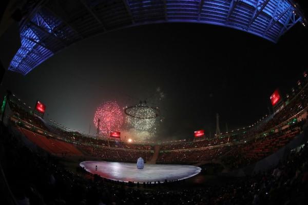 2018 평창 동계올림픽 개막식이 열린 9일 오후 강원도 평창 올림픽스타디움에 개막식 카운트다운이 진행되고 있다. ⓒ뉴시스