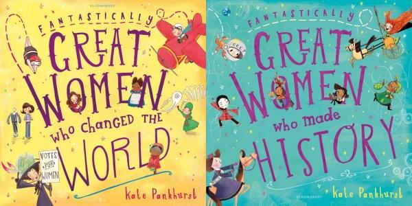 케이트 팽크허스트의 그림책 '세상을 바꾼 아주 멋진 여성들'(왼쪽)과 '역사를 만든 아주 멋진 여성들'의 표지. ⓒkatepankhurst.com