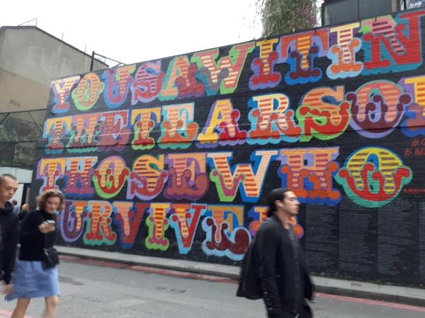 런던 쇼디치의 벽화 ⓒ박선이 교수