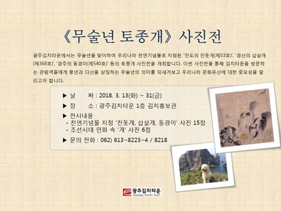 광주김치타운 무술년 토종개 사진전 ⓒ광주김치타운