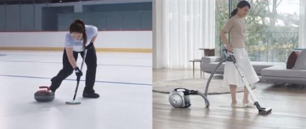 여자 컬링국가대표팀이 출연한 'LG 코드제로' TV 광고 ⓒLG전자