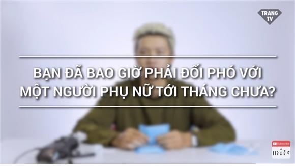 생리로 인한 여성들의 고충을 이해하자는 취지로 만든 영상 캡쳐. ⓒTrắng 유튜브 캡처