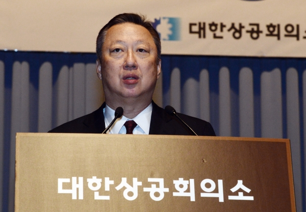 박용만 서울상공희의소 회장 ⓒ뉴시스·여성신문