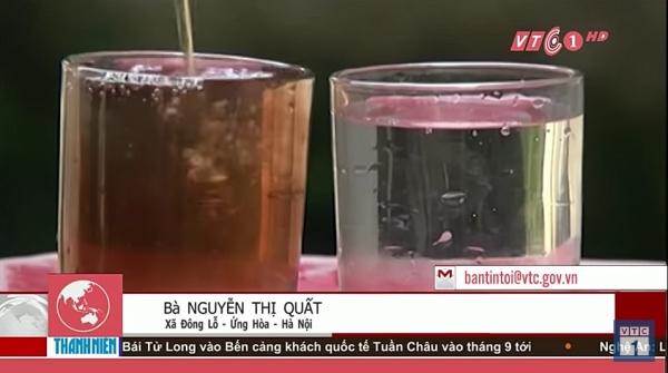 오염된 수돗물의 위험성에 관한 뉴스. 사진 유튜브 캡처 - 작성자 VTC1 - Tin tức