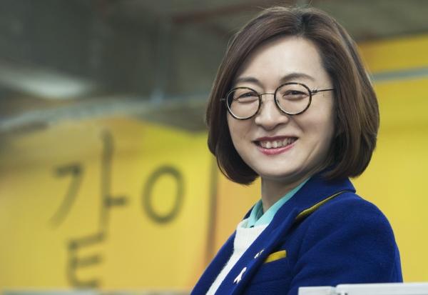 성남시장 후보로 단수공천된 은수미 전 청와대 여성가족비서관 ⓒ이정실 여성신문 사진기자