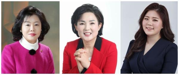 2일 자유한국당 부산시당은 6.13지방선거 후보자 명단을 확정, 발표했다. 왼쪽부터 성순임(남구1) 시의원 후보, 박명자(해운대1) 시의원 후보, 김선경(동구나) 구의원 후보