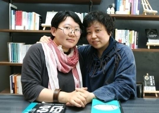 노유다(왼쪽) 대표와 나낮잠 대표 ⓒ이정실 여성신문 사진기자