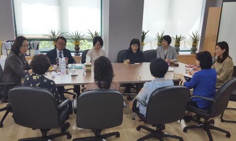 육아정책연구소는 지난 28일 서울 서초구 육아정책연구소에서 한국어린이집총연합회 회장단을 초청해 간담회를 열었다. ⓒ육아정책연구소