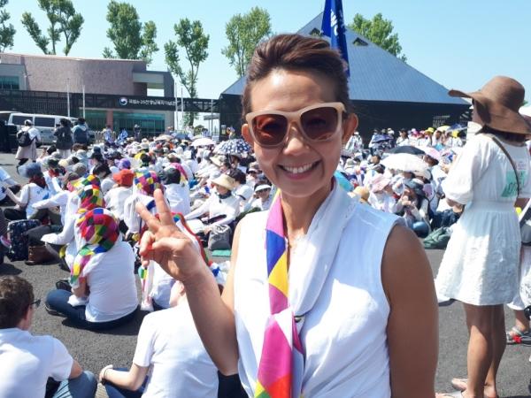 여성평화걷기(WomenCrossDMZ) 창립자 중 한 명이자 국제 코디네이터인 크리스틴 안