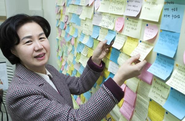김수영 서울 양천구청장이 제7회 지방선거에서 당선돼 재선에 성공했다. ⓒ이정실 여성신문 사진기자