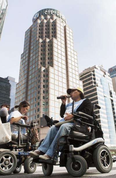(참고사진) 장애인 이동권 보장요구 집회 ⓒ이정실 여성신문 사진기자