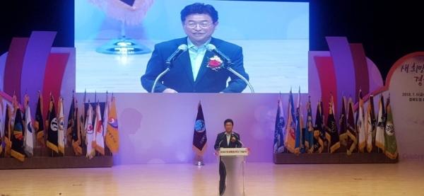 민선 7기를 시작하며 공식행사로는 처음 경북양성평등주간기념행사에 참석한 이철우도지사 ⓒ권은주기자