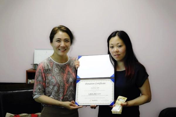 한국미혼모가족협회 김도경 대표(왼쪽)과 입양인 조혜정씨 ⓒ한국미혼모가족협회