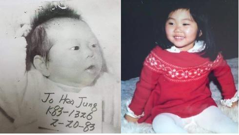 전북 전주시 효자동에서 발견돼 노르웨이로 입양된 조혜정씨의 어릴 때 모습 ⓒ한국미혼모가족협회