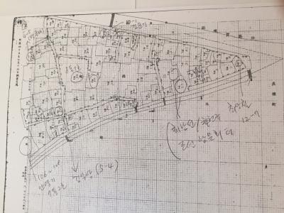 1912년 경성부 삼각정 지적도 ⓒ윤정란씨 제공
