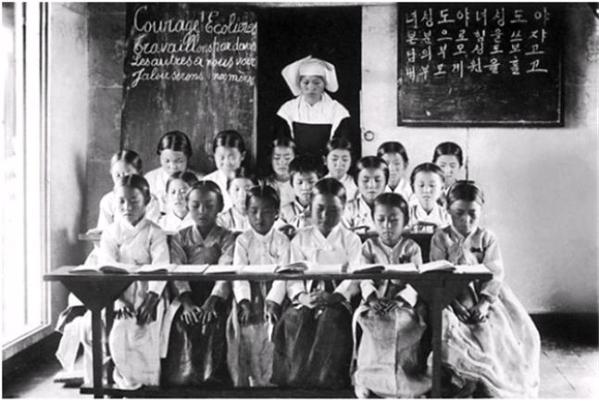 1906년 제주 신성여학교 유아반 사진 ⓒ여성가족부 제공