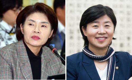 더불어민주당 한정애 정책위수석부의장(왼쪽), 서영교 원내수석부대표 ⓒ뉴시스·여성신문
