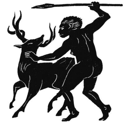 『인류의 기원』 10쇄에 실린 삽화. 여성 선사인이 사냥을 하고 있는 모습을 묘사했다. 토끼도둑 ⓒ (주)사이언스북스, 2015
