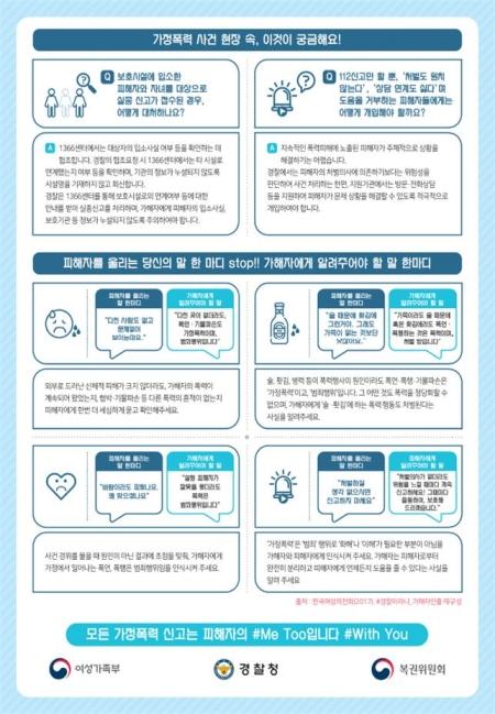 '가정폭력 사건대응 초기지원 가이드라인' ⓒ여성가족부