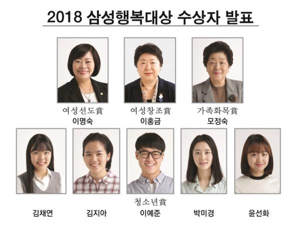 2018 삼성행복대상 수상자 ⓒ삼성생명공익재단