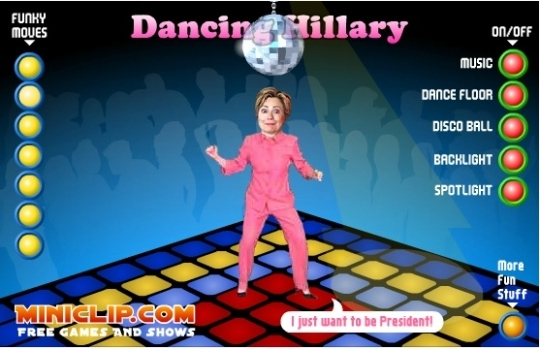 'Anti-Hillary' flash games launched by The Hillary Project.