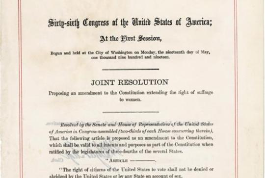 The 19th Amendment.