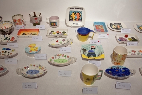 At Best Buddies Korea Exhibition, people with and without IDD made these ceramics.