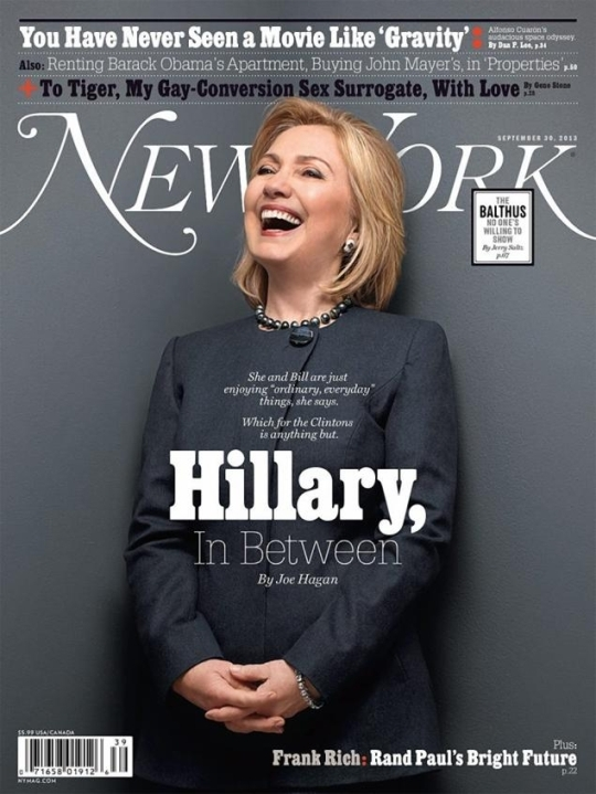 Cover of New York Magazine with Hillary Clintons interview