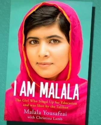 "The cover of ""I Am Malala,"" her recently published memoir."