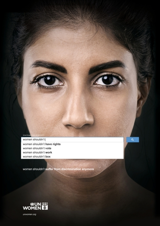UN Women's new gender equality ad campaign series.     ⓒ Memac Ogilvy & Mather Dubai