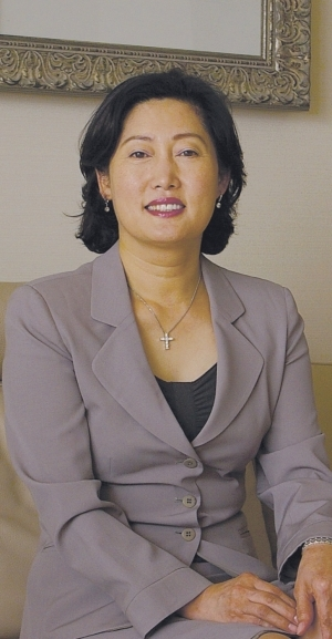 President Yoo Eun-ok of Korean Chapter of International Zonta Club