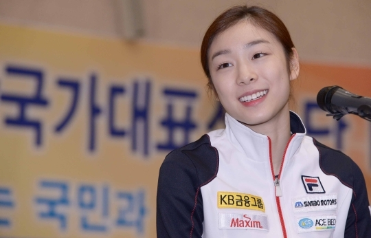 Kim Yuna answering reporters' questions during the 2014 Sochi Winter Olympics ice national team media day held at the Taereung International Skating Rink, Gongneung-dong, Nowon-gu, Seoul on the 15th. ⓒNewsis·Women's News