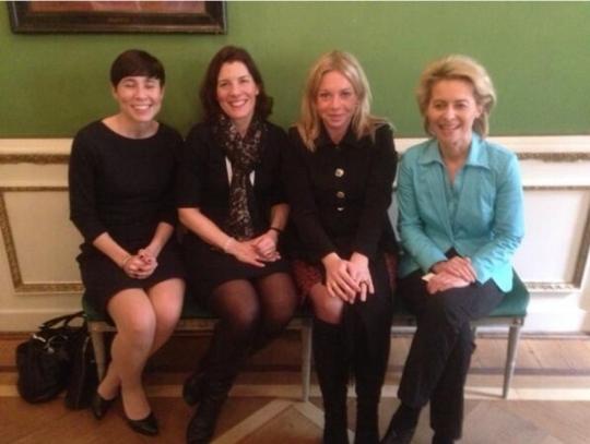 (From left) Ine Eriksen Søreide (Norway), Karin Enstrom (Sweden), Jeanine Hennis-Plasschaert (Netherlands) and Ursula von der Leyen (Germany).