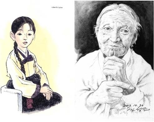 "(from left) ""Butterfly's Song"" by artists Kim Gwangsung and Chung Kiyoung, and ""When the day comes"" by Cha Sungjin."
