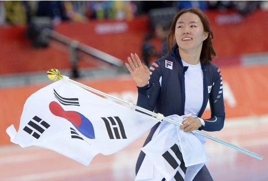 'Empress of speed skating won a gold medal in the women's 500m sprint at the Adler Arena Skating Center in Sochi, Russia.