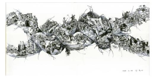 Kim Jeongki 'An entangled knot'