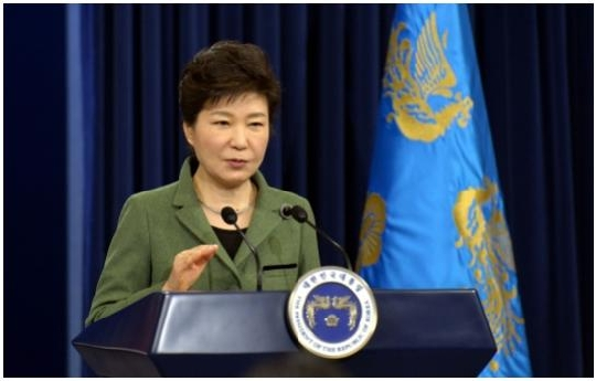 President Park Geunhye unveils the details of her three-year economic plan at the presidential office of Cheongwadae as she marks her first year in office.