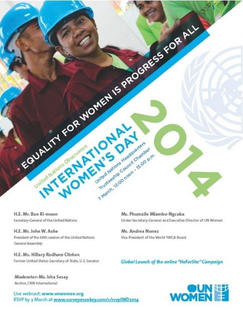 Visit www.internationalwomensday.com and check out events in different countries and regions.