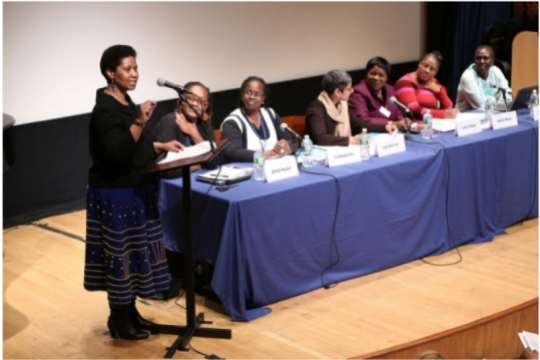 UN Women Executive Director Phumzile Mlambo-Ngcuka speaking at an event related to African women.
