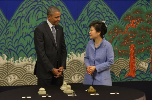On April 25, President Obama returned ancient royal seals to Korea.