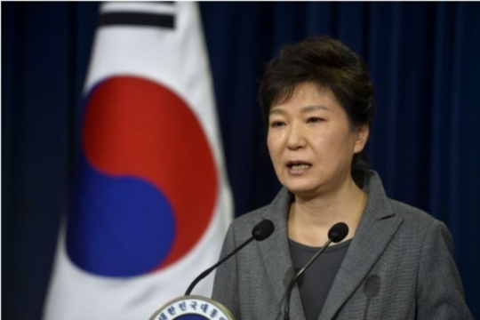 On May 16, President Park Geunhye cried as she delivered a speech to the nation at the Presidential Blue House.